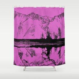 Knik River Mts. Pop Art - 5 Shower Curtain