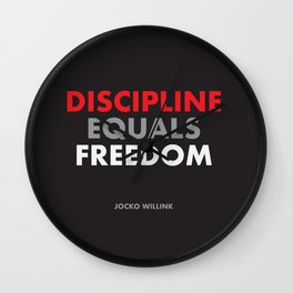 """Discipline Equals Freedom"" Jocko Willink Wall Clock"