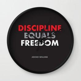 """Discipline Equals Freedom"" Jocko Willink Wall Clock"