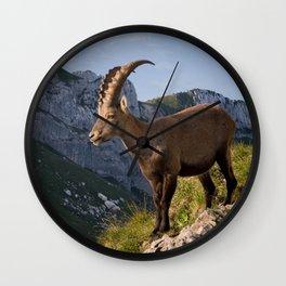 Capricorn in the Alps Wall Clock