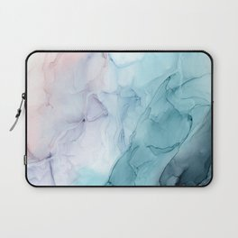 Beachy Pastel Flowing Ombre Abstract Flip Laptop Sleeve