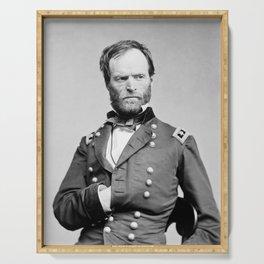 General Sherman - Hand In Coat Portrait Serving Tray