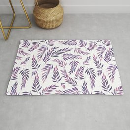 Tropical Leaves Pattern | Purple Rug
