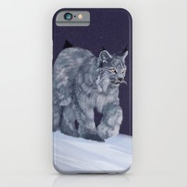 Lynx in a snowstorm iPhone Case