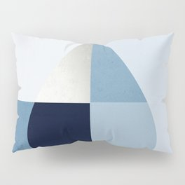 Geometric raindrop - chambray blues Pillow Sham