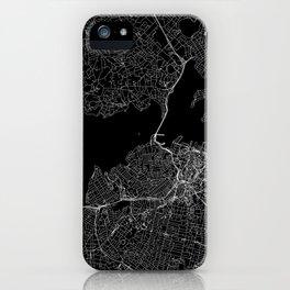 Auckland Black Map iPhone Case