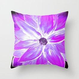 Electric Purple Throw Pillow
