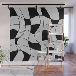 Lines Black Wall Mural