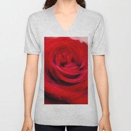 Singl Red Rose Unisex V-Neck