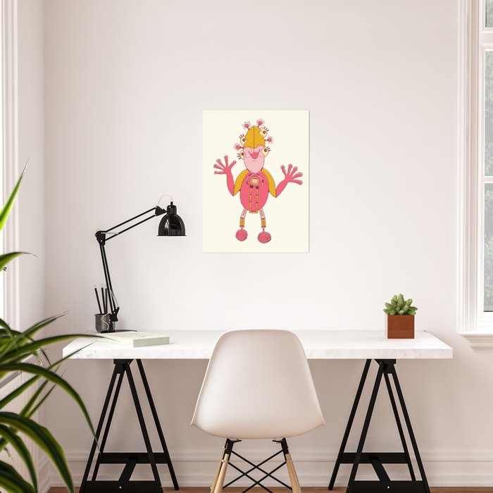 Robot Alien Monster No 293 Poster