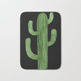 Cactus Solo on Black Bath Mat