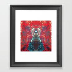 FX#505 - Kryptonian Oblongated Lines Framed Art Print