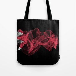 Bahrain Smoke Flag on Black Background, Bahrain flag Tote Bag