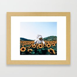 discovering you, discovering me. Framed Art Print