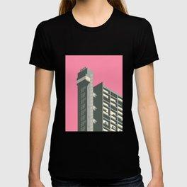 Trellick Tower London Brutalist Architecture - Pink T-shirt