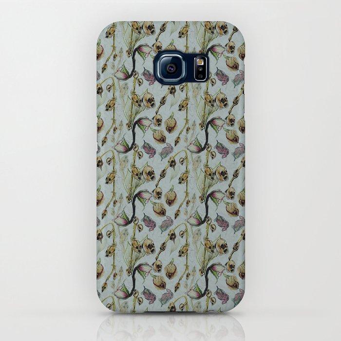 Dead Rose & Snapdragon Pattern iPhone Case