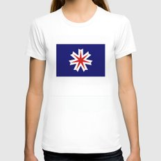 hokkaido region flag japan prefecture Womens Fitted Tee White X-LARGE