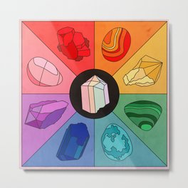 Crystal Color Wheel Metal Print