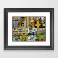 Tirana Collage Framed Art Print