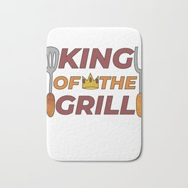 Pitmaster BBQ Barbecue food grill Put my meat in your mouth and swallow design grill king Bath Mat