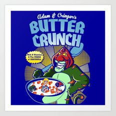 Adam and cringer's Butter Crunch Cereals Art Print