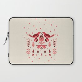 Folk Art Bird Illustration // bird lover, Love Birds Laptop Sleeve