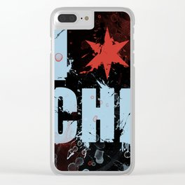 Chicago Love Clear iPhone Case