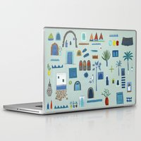 morocco Laptop & iPad Skins featuring Morocco Sketch by Nic Squirrell