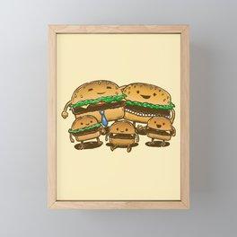 BurgerFam Framed Mini Art Print