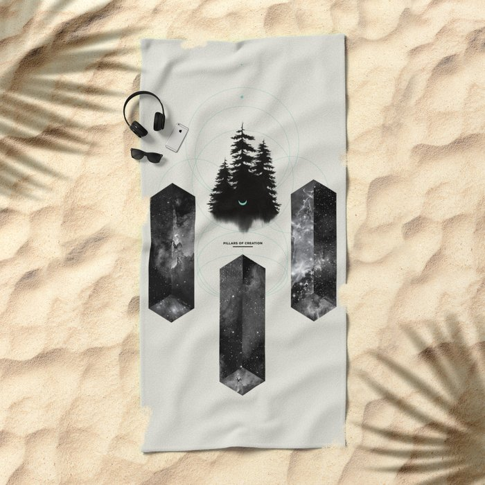 PILLARS OF CREATION Beach Towel