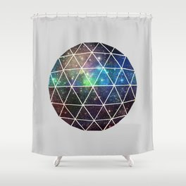Space Geodesic Shower Curtain
