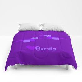 Love Birds-Purple Comforters