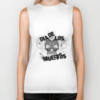 dia de los muertos Biker Tanks featuring Dia De Los Muertos by Digi Treats 2