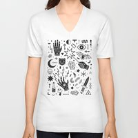 witchcraft V-neck T-shirts featuring Witchcraft II by LordofMasks