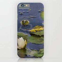 Hammond Pond - frog iPhone Case