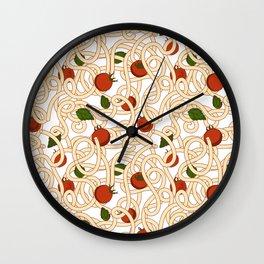 Spaghetti with tomato Wall Clock