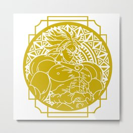 Stained Glass - Dragonball - Broly Metal Print