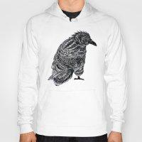 raven Hoodies featuring Raven by BIOWORKZ