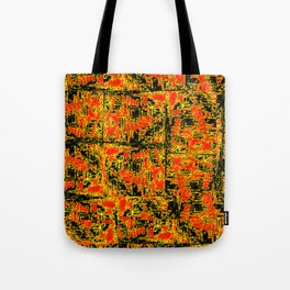 Golden Red Tote Bag