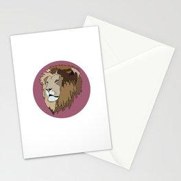 Wild Rectangular Lion Stationery Cards