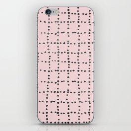 Drunk Polka Dot Grid Dance iPhone Skin
