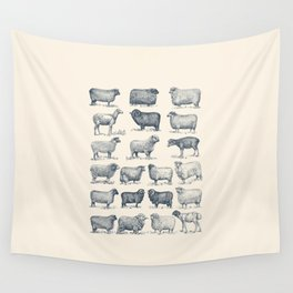 Types of Sheep Wall Tapestry