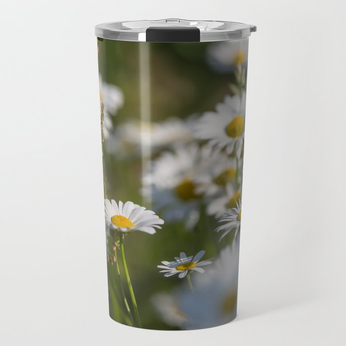 Daisies meadow in the summer Travel Mug