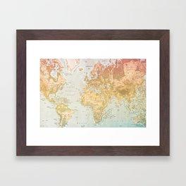Pastel World Framed Art Print