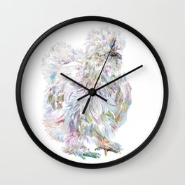 Silkie Chicken - Buchu Wall Clock