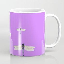 GAUZY WINGED DRAGONFLIES ON LILAC Coffee Mug