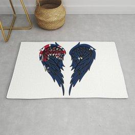 Australian wings art Rug