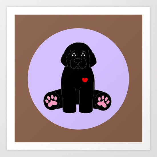 Stuffed Black Dog Art Print