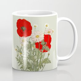 A country garden flower bouquet -poppies and daisies Coffee Mug