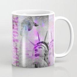 Statue of  Liberty pink mixed media art Coffee Mug